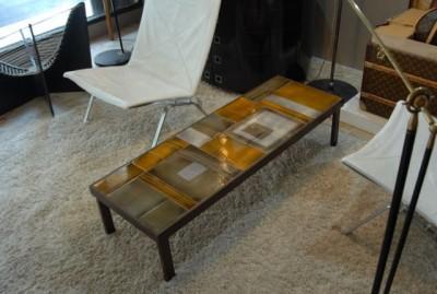 Roger Céramique Signée Table Basse Capron 8wPnO0k